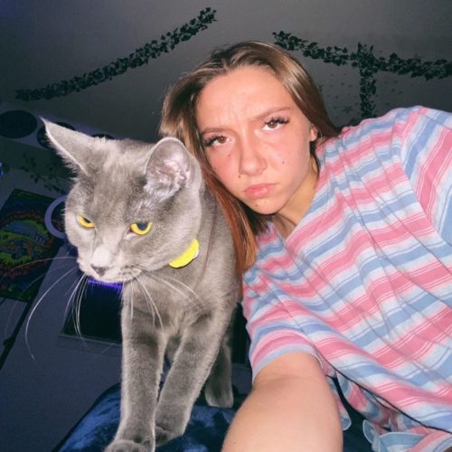 Jaime with her cat