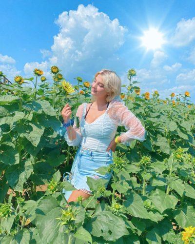 Mikaela luv in a sunflower garden