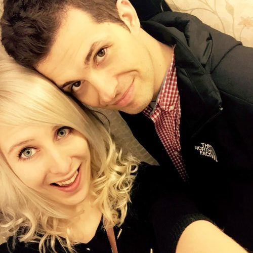 Mike Matei with his ex girlfriend