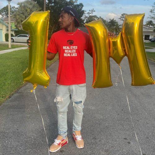Dylan Delice celebrating his 1million follower on Tiktok