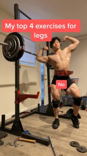 Alan Wu in the gym
