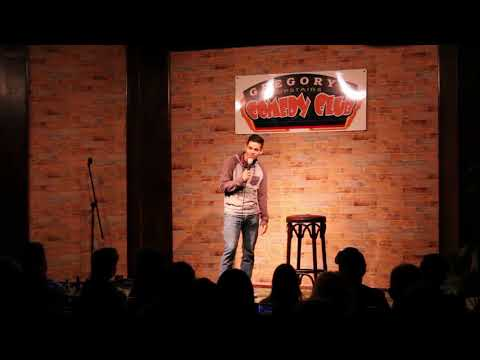 Benjamin Brainard doing stand up comedy