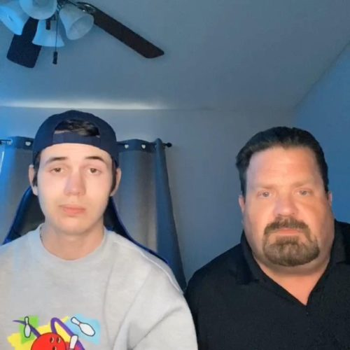 Brandon with his father