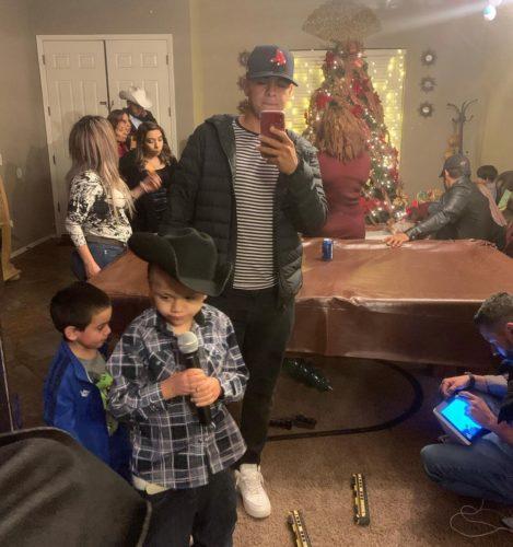 Bryan Ramirez Balaguer with his family