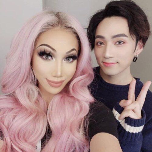 Duc Tran Nguyen with her boyfriend