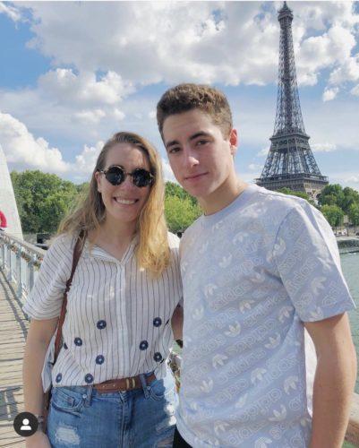 Eric Suerez with his sister