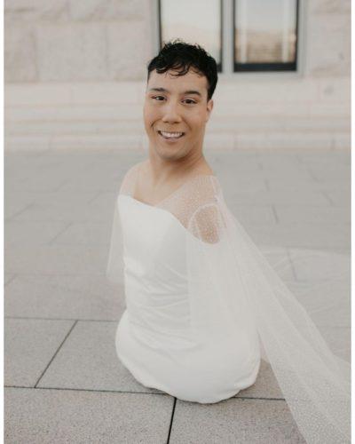 Gabe Adams Wheatley as a bride