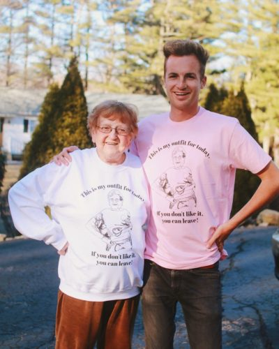 Grandma Lill with her grandson