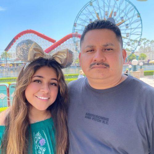 Jose Salguero with his daughter