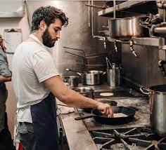 Matt Broussard in the kitchen
