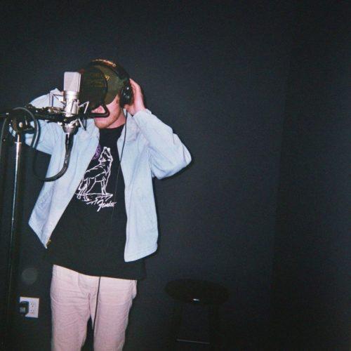 Matt Hansen recording a song