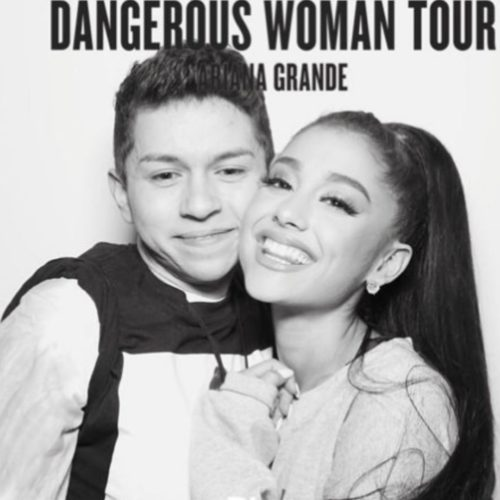 Mikey Angelo photo edit with Ariana Grande