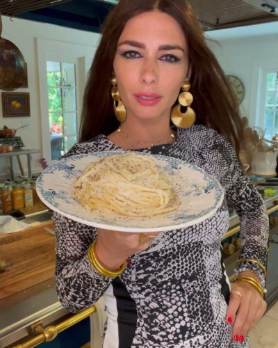 Nadia Caterina Munno with a dishs he cooked