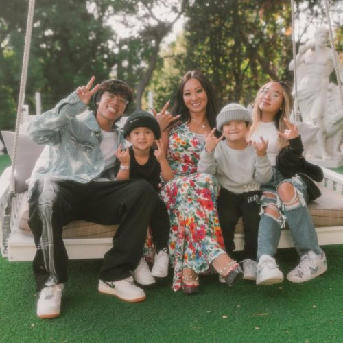 Tina Le with her family