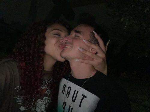 Zaya Perysian with her boyfriend