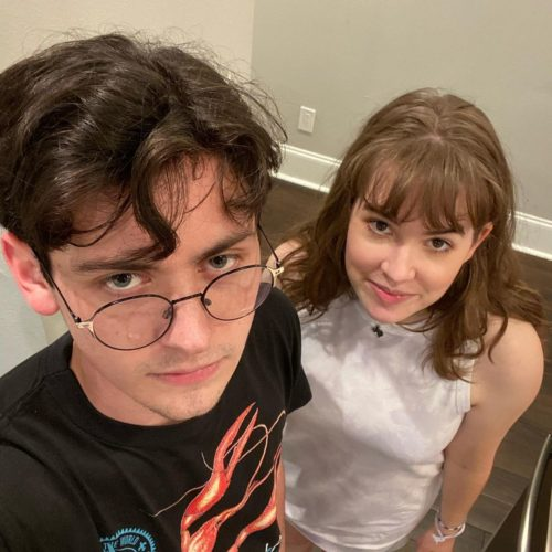 Andy with his girlfriend