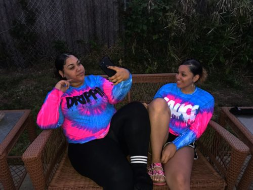 Ashley Perkins with her sister