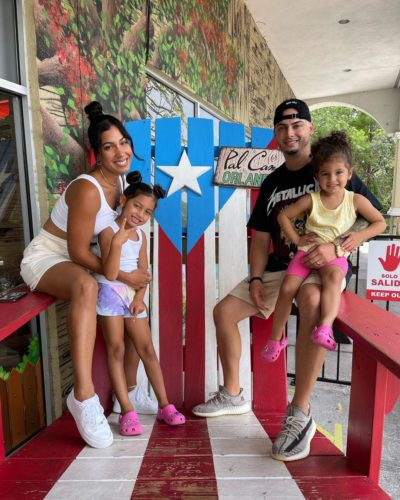 Christian Perez with his family