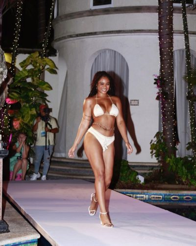 Essence Tatiana doing a ramp walk