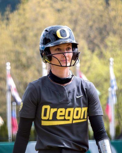 Haley Cruse in her softball attire