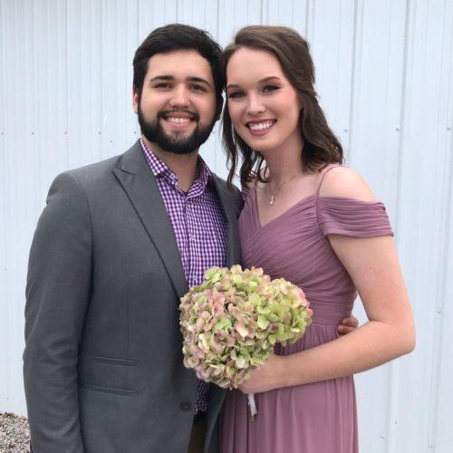 Isaiah Markin with his girlfriend