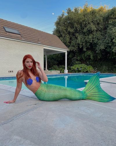Jac Anderson as a mermaid