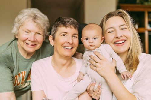 Jo Johnson, her daughter, her mom and her mom's mom