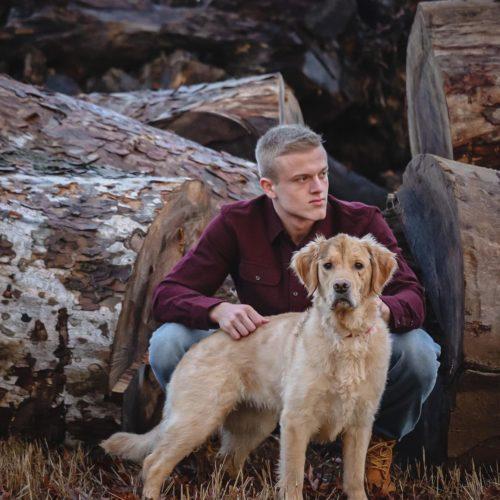 Joe Bartolozzi with his dog