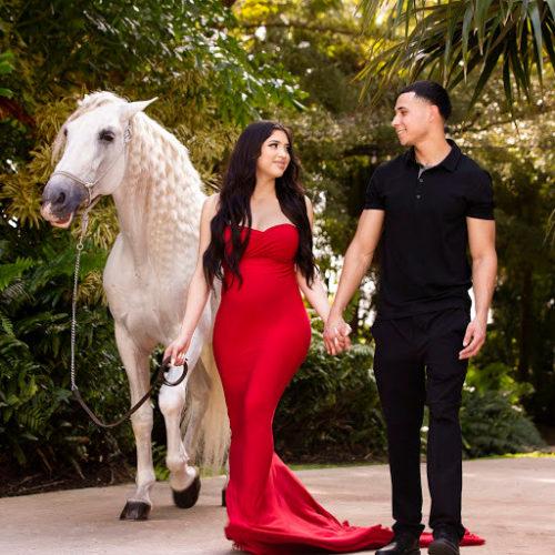 Lizeth Ramirez with her boyfriend