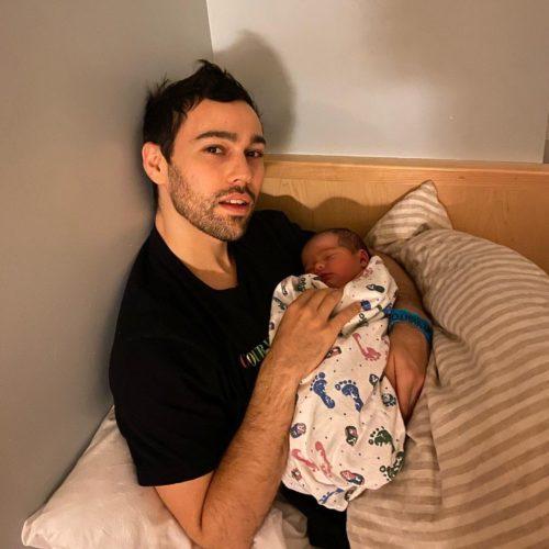 Max Schneider with his child