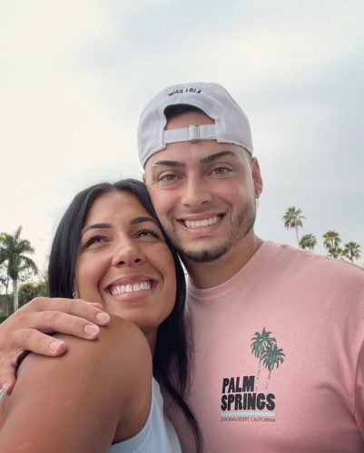 Maybelline Perez with her husband