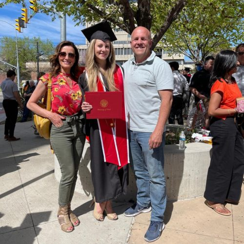 Mike Patey on his eldest daughter's graduation