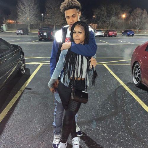Nuni Dior with her boyfriend