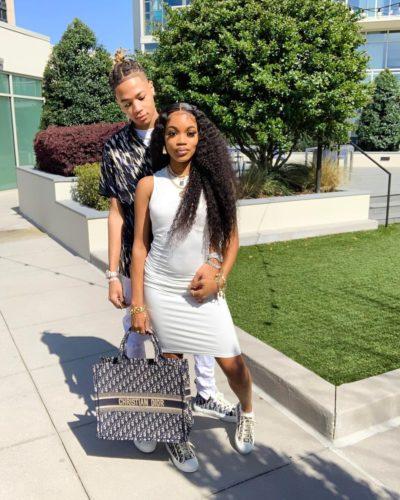 Qui Reid with her boyfriend