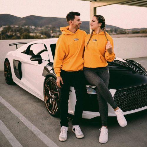 Sabrina Leamon with her boyfriend
