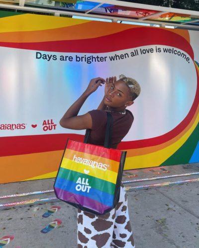 Sir Carter supporting LGBTQ+