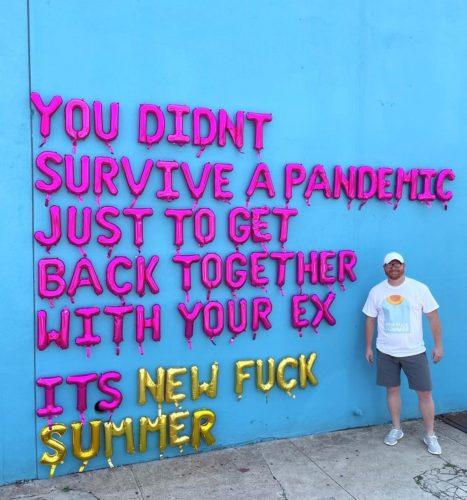 Stephen Szczerba with a message