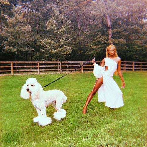 The_symone with her dog