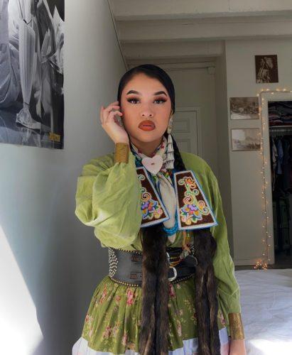 Tia Wood in cultural attire